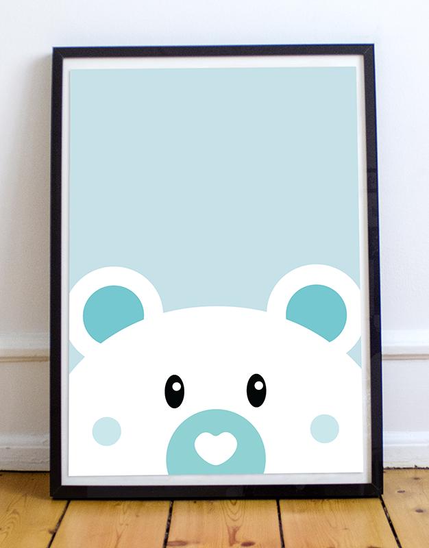 Affiche Ours à 15 € | Décoration murale | Chambre enfant ou bébé
