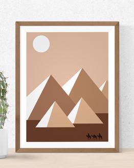 Cette affiche Pyramides d'Egypte vous permettra d'avoir une part de l'Egypte dans votre intérieur comme par exemple dans votre cuisine, votre salon, votre bureau ou bien votre chambre. Tout voyageur passionné aura envie d'acheter ce poster.