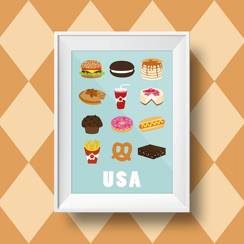 Affiche Pour Une Decoration Murale Americaine Pour Votre Cuisine
