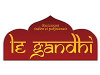 Graphiste pour le Gandhi, restaurant indien et pakistanais