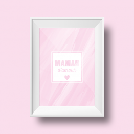 Poster et affiche rose pour la fêtes de mamans personnalisable pour la décoration murale.