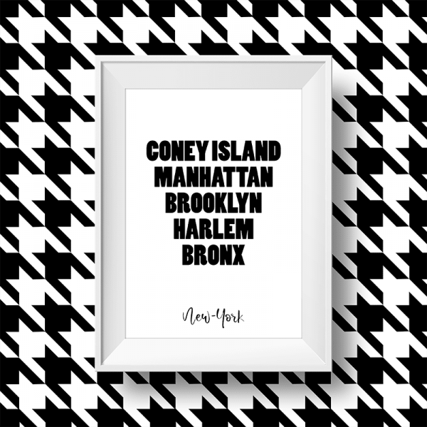 Affiche New-York noir et blanc