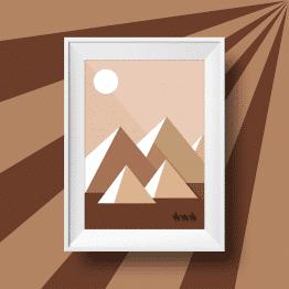 Affiche murale d'un voyage dans le désert