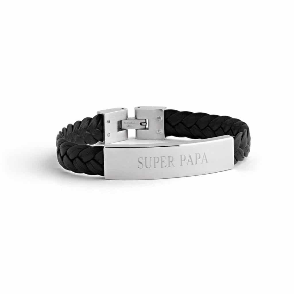 cadeau bracelet cuir personnalisé pour la fête des pères