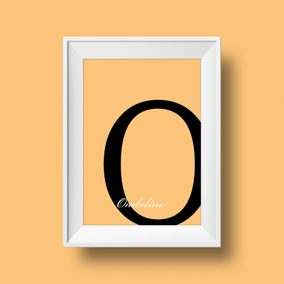 Affiche prénom personnalisée ombeline beige