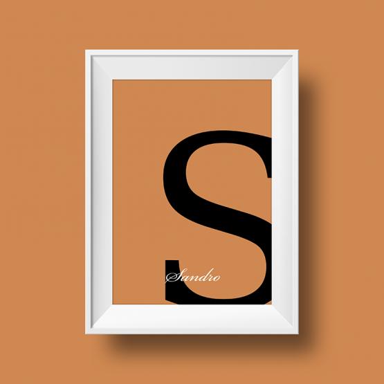 Affiche prénom personnalisée sandro sable