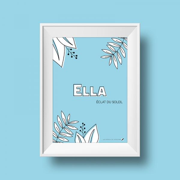 Affiche signification du prénom Ella