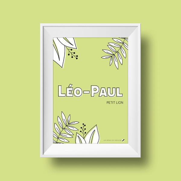 Affiche signification du prénom Léo-Paul
