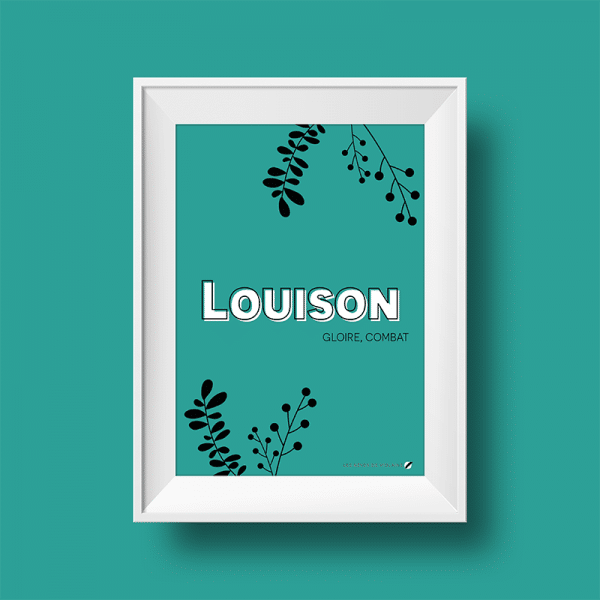 Affiche signification du prénom Louison