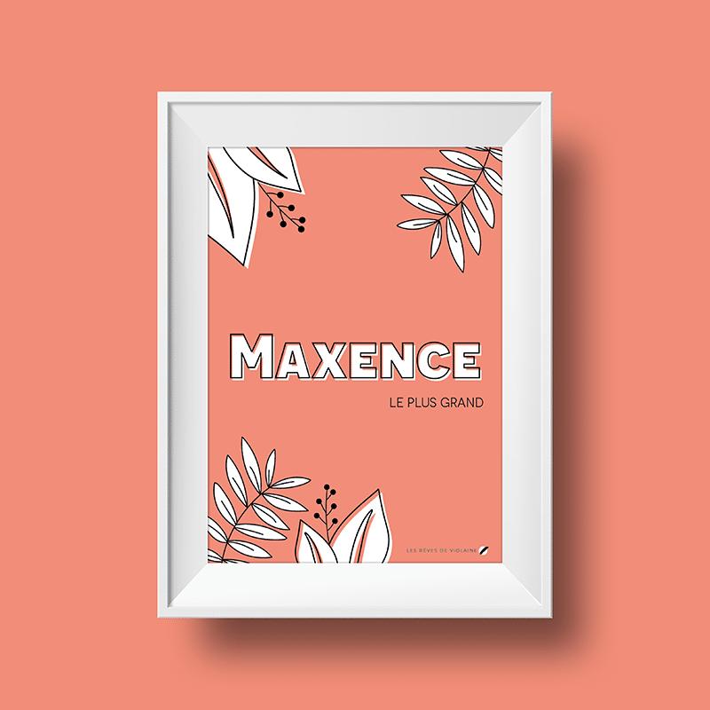 Affiche signification du prénom Maxence