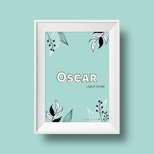 Affiche signification du prénom Oscar